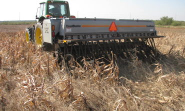 Planting wheat in cover crop residue